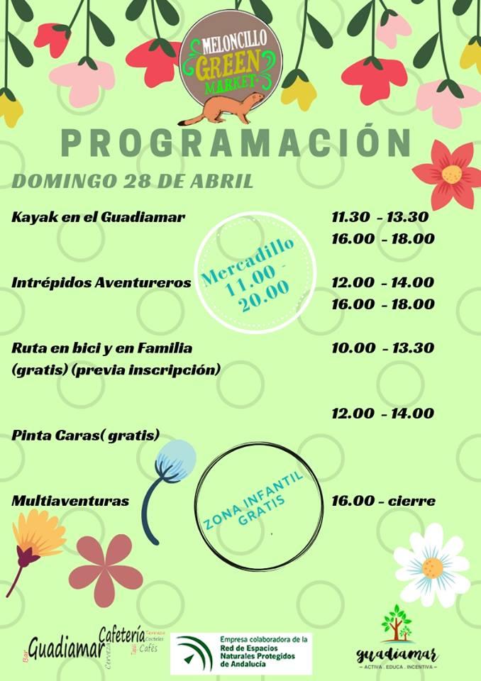 Programación de actividades Meloncillo 2019 - Domingo 28 de abril