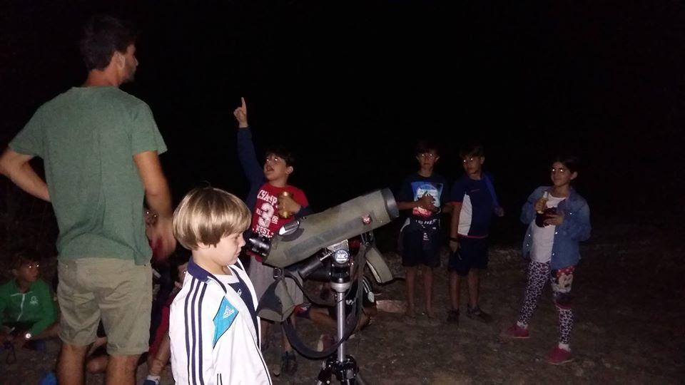 Observación del cielo nocturno en el Guadiamar